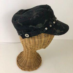 Accessories - Skull & Crossbones Studded Hat